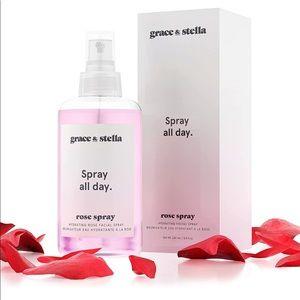 Grace & Stella Rose Water Facial Spray NEW